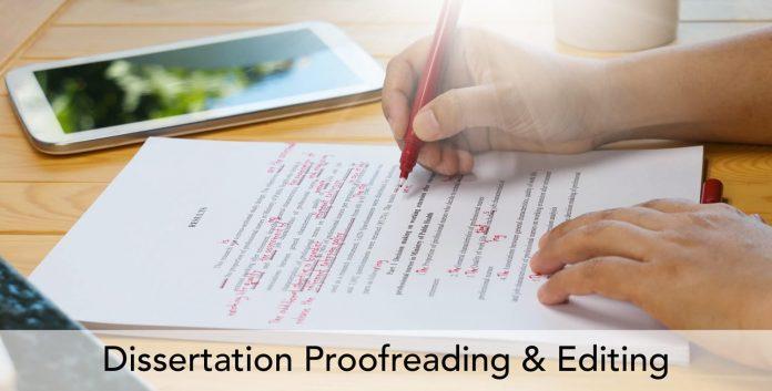 dissertation proofreading UK