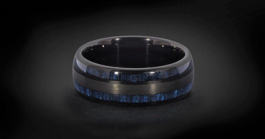 Tungsten men black ring for sale